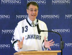 Nipissing-Timiskaming MP Anthony Rota announces research grants Thursday at Nipissing University. Gord Young/The Nugget.