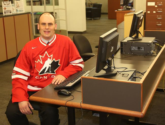 TIM MEEKS/THE INTELLIGENCER Belleville Public Library CEO Trevor Pross says the library board has asked him and his staff to look at creating a tech hub to keep the facility ahead of the curve in terms of technology.