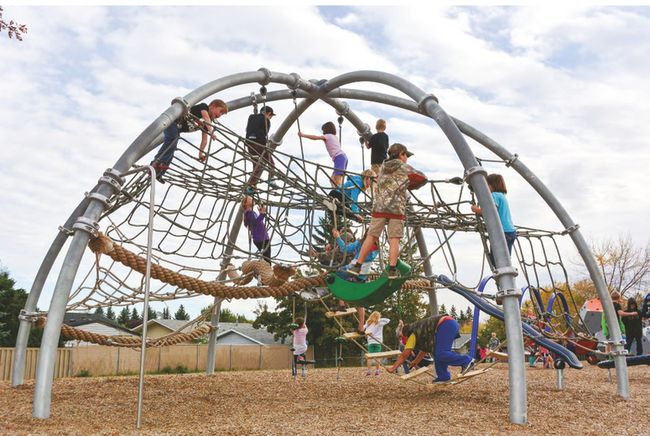 Holy Spirit Catholic School's current playground will be redeveloped to accommodate the growing student population, as well as be more accessible to those with mobility issues, once the school reaches its fundraising goals.