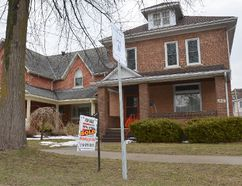 A sold sign on a house on 2nd Ave. E. in Owen Sound. (Rob Gowan The Sun Times)