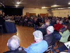 Sean Chase/Daily Observer More than 200 people packed Cobden Agricultural Hall Wednesday night to protest Bill C-71 which will make major changes to Canada's firearms laws. Many believe this is the Liberal government's attempt to bring back the long-gun registry.