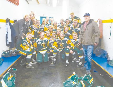 A collision involving a tractor trailer and the Humbold Broncos' team bus on April 6 left 15 dead. LJAC alumni Parker Tobin and Stephen Wack were among the victims. Pictured: The Humboldt Broncos after their Boulet Cup win on March 24. (Photo via @HumboldtBroncos)