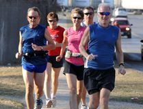 Shown here is Ian Loughrey (in front on the right) in this file photo running down Ormond Street with a group of Brockville Road Runners. (File photo)