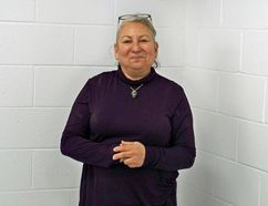 A`nowara`ko:wa Arena Manager Geraldine Jacobs, inside the locker room where a fire started on Jan. 19. The arena had been closed since that day, but re-opened on Monday. Kevin Gould/Cornwall Standard-Freeholder