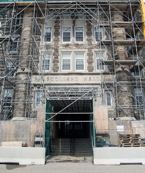 St. Joseph-Scollard Hall is getting some upgrades including restoration of its exterior and interior renovations to the administration reception area. The work is expected to be completed ahead of the 2018-19 school year. Gord Young/The Nugget