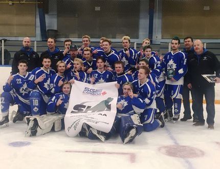 The North East Midget AA celebrated their first provincial title on Thursday, April 5 in Regina.