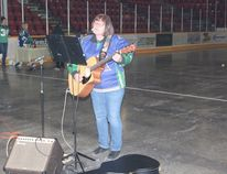 Wanda Bortis performed a few songs during a program paying tribute to the Humboldt Broncos at the Northern Lights Palace on Friday, April 13.