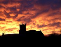 The setting sun and clouds form an unusual pattern over St. Mark's Church in Barriefield on Monday evening May 1 2017 after a heavy rain storm over Kingston. Ian MacAlpine /The Whig-Standard/Postmedia Network