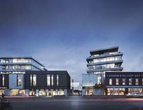 An artistic rendering of the Gibbard District project, seen from the street. Supplied photo