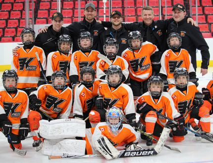 The Kincardine Home Hardware Novice Rep team are WOAA Champions and recently skated on the Detroit Red Wings home ice before their game on March 22, 2018. Pictured Back L-R: Aaron Geoghegan, Kyle Tout, Troy Elliot, Jeff Steven, Derek Frook. Middle: Dan Tout, Tristan Steven, Cayden McQuigan, Cal McQuillin, Tyler Bauman, Cohen Frook. Front: Carter Drennan, Kohlson Janes, Lucas Tout, Jack Elliot, Luke Walsh, Spencer Geoghegan, Craig Walker and Madden Walden.