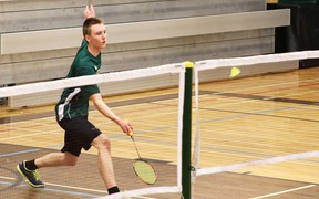 Fort High Sting badminton athlete Nathan Harkin was on top form as he battled against his Ardrossan rival on April 16.