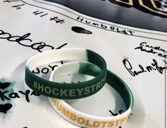 Five-hundred bracelets were sold at the Ingredion Centre in Cardinal last weekend with the money going to the Funds for Humboldt Broncos GoFundMe initiative. (Photo Taken By Mady Gallagher)