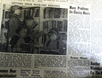 This week's Throwback Thursday goes all the way back to 1954 and a picture from the Melfort Public Library. Which is fitting as the Spring Book Sale starts this weekend. The library was located in the basement of the Civic Centre at that time and some Broadway School students were at the library to find some reading material.