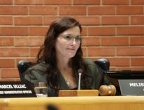 Mayor Melissa Blake at a council meeting in September, 2014. Vincent McDermott/Fort McMurray Today/Postmedia Network