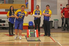The Bert Church High School Unified Sports team attended a bocce-bag toss type tournament on Apr. 12 at Chestermere High School. These four students will be representing Alberta at the 2018 Special Olympics Ontario School Championships May 29-31 in Peterborough.