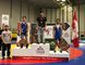 Isaiah Springer, right, won bronze at the U17/U19 Canadian Wrestling Championships in Edmonton over the weekend.