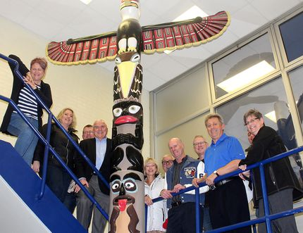 These Tecumseh Secondary School grads are among those who support keeping the totem pole, created by four students in the early 1970s, a part of the Chatham school. Historical columnists Jim and Lisa Gilbert agree and explain why. (File photo/The Daily News)
