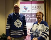 Jeff Rikley and his mother, Bonnie, will be taking in a Toronto Maple Leafs playoff game thanks to Wish of a Lifetime and Chartwell Oxford Gardens. (Chris Funston/Sentinel-Review)