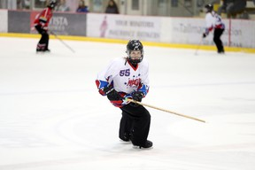 Petersfield resident Charlotte Wilmott competes at the 2018 Save on Foods Canadian Ringette Championships as a member of Team Manitoba 3 - Magic at the Bell MTS Iceplex on April 11. (Brook Jones/Interlake Publishing/Postmedia Network)