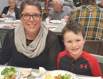 The 5th Annual Lasagna Dinner and Silent Auction saw over 100 people out despite the weather on April 15, 2018 at the Lucknow Arena's Paul Henderson Room. Pictured: L-R: Amanda and Colton Ritchie are feeling happily satisfied during the 5th Annual Lasagna Dinner and Silent Auction at the Lucknow Arena in support of the Lucknow Agricultural Society and Lucknow & District Lions Club. See story and photos on Page 5.