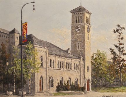 """James Keirstead/Supplied photo """"Grant Hall, Queen's University, Kingston"""" oil on canvas, 2018."""
