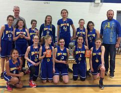 Ange- Gabriel's intermediate girls' team that won the Catholic Cup. (Contributed photo)
