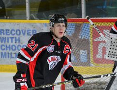 Grande Prairie native Ryan Hartman (shown here) will join the MacEwan University Griffins hockey team for the upcoming ACAC season. The 20-year-old just finished his third year with the Camrose Kodiaks, totaling 33 points in 33 AJHL games this season.