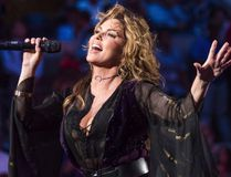 Shania Twain performs at the opening night ceremony of the U.S. Open tennis tournament at the USTA Billie Jean King National Tennis Center on Monday, Aug. 28, 2017, in New York. Twain is apologizing after telling a British newspaper that she would have voted for U.S. President Donald Trump if she were eligible. (THE CANADIAN PRESS/AP-Photo by Charles Sykes/Invision/AP)