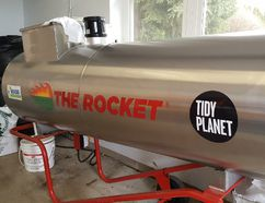 "Shown is ""The Rocket,"" a high-efficiency composting system at Villa Angela in Chatham. (Trevor Terfloth/The Daily News)"