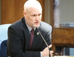 BRUCE BELL/THE INTELLIGENCER Belleville city clerk Matt MacDonald gives councillors a crash course on the use of corporate resources for those seeking re-election in October.