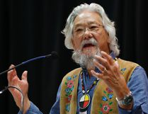 David Suzuki speaks at a Special Chiefs Assembly / Conference on Climate Change and the Environment in Winnipeg, Tuesday, November 29, 2016. THE CANADIAN PRESS/John Woods