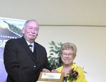 Pat Brown was named Citizen of the Year at the annual Carrot River Business Awards for her volunteer efforts.
