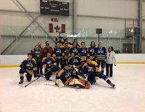 The Fort McKay Chiefs Junior Hockey Team pose with their bronze medals after winning the game. Submitted Image Calvin Alexander