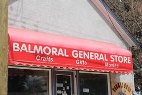 The Balmoral General Store is in need of a new door after a March 28 break-in. (Juliet Kadzviti/Interlake Publishing/Postmedia Network)