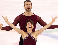 Meagan Duhamel and Eric Radford of Canada compete during the Pair Skating Free Skating at Gangneung Ice Arena on Feb. 15, 2018. Getty Images