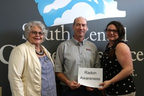 South Central Cancer Resource and Polar Plumbing and Heating are teaming up for the month of May to test houses for radon. (LAUREN MACGILL, Morden Times)