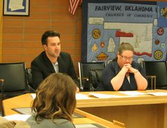 Meyers Norse Penney auditors Brandon Gagnon and Cheri Peterson gave the Town of Fairview a clean bill of financial health at the APril 17 town council meeting.