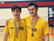Ryen Stevens, left, and Aidan Lachine of the Pain Court Patriotes won the senior boys' doubles final at the SWOSSAA badminton championship in Windsor, Ont., on Tuesday, April 24, 2018. (Contributed Photo)