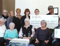 Bill Walker (right), MPP for Bruce-Grey-Owen Sound, presented a $150,000 Ontario Trillium Foundation grant to the Colpoy's Bay Women's Institute at their annual general meeting at the Colpoy's Bay W.I. community hall in Colpoy's Bay, April 22. Submitted photo