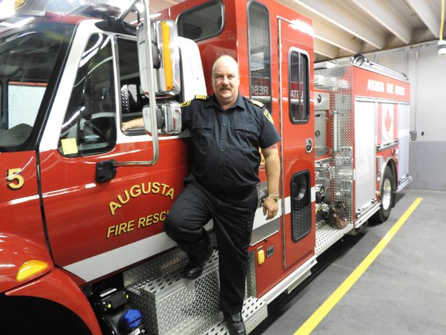 Fire Chief Rob Bowman at the Maitland Fire Station. (File photo)