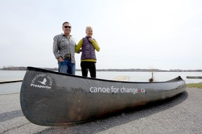 Meghan Balogh/The Whig-Standard Glenn Green and Carol VandenEngel had an official send-off on Tuesday from Kingston. They are leaving on the second leg of a canoe trip across Canada, this time from Vancouver to Ottawa, which they expect will take them at least the next six months.
