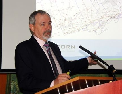 Jim Pine, one of the leaders of the Eastern Ontario Regional Network (EORN) initiative, is shown in a May, 2018 file photo. (FILE PHOTO)