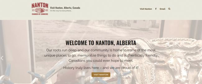 The Nanton and District Chamber of Commerce has a new website, visitnanton.com.