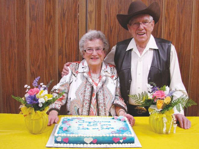 Long-time Devon residents Lois and Louie Hedberg celebrated 68 years of marriage at the Pioneer 73 Club's Music Jam and Dance last week on April 25. The couple always attends the club's monthly event, dancing the night away and dressing for the theme.