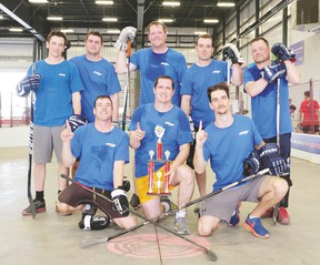 This year's Ball Hockey FUNraising Tournament is set for June 1. Last year, ATCO claimed the championship trophy. (Photo courtesy United Way)