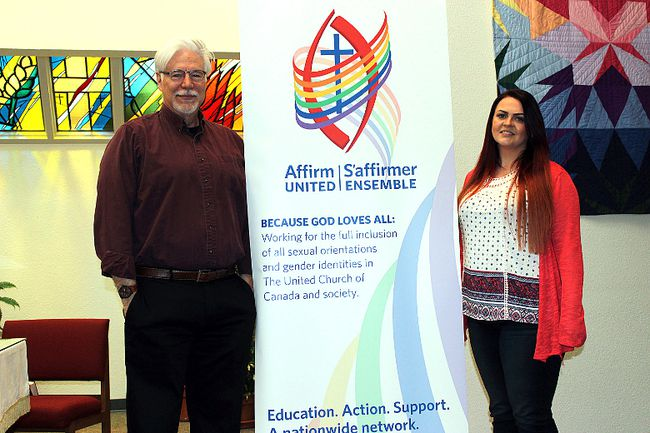 Reverends Kurt Katzmar and Terrie Jackson stated pride in the Sherwood Park United Church affirming as a welcoming space for LGBTQ+ community members. The church held a celebration service and received their official designation as an Affirming Ministry on April 15.