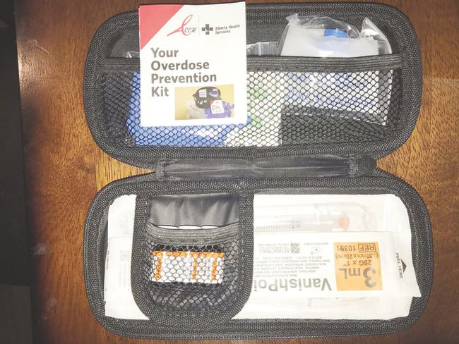 Naloxone kits are readily available, and can help to temporarily revive a victim in case of an overdose. (Nouran Abdellatif/Rep Staff)