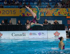 Adora Kruger of Cochrane won two bronze and two silver medals at the 2018 Canadian Artistic Swimming (Synchro) Championships held in Windsor, Ontario Apr. 24-28.