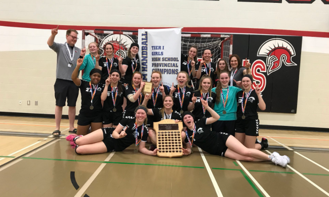 The St. Peters Apostle Spartans handball team  claimed the provincial championship on their home court on April 28.