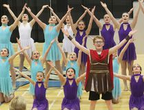 """KEVIN RUSHWORTH HIGH RIVER TIMES/POSTMEDIA NETWORK. Dancers with Dance Tech in High River performed their fifth annual competitive dance showcase and bake sale fundraiser on April 27. Pictured above, the entire company performs """"Zero to Hero,"""" a piece that was the Junior Encore Challenge winner at the Just Dance Challenge Calgary 2018 competition."""